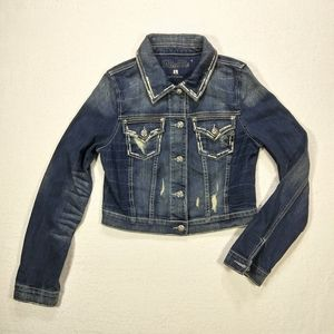Miss Me Distressed Denim Jacket